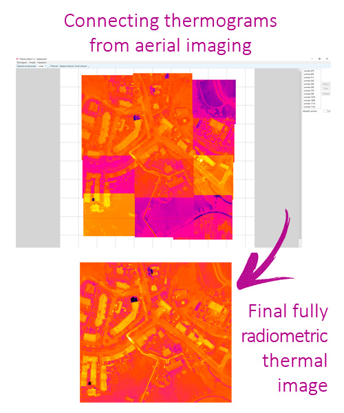 Connecting thermograms from aerial imaging - LabIR® ThermoStitch