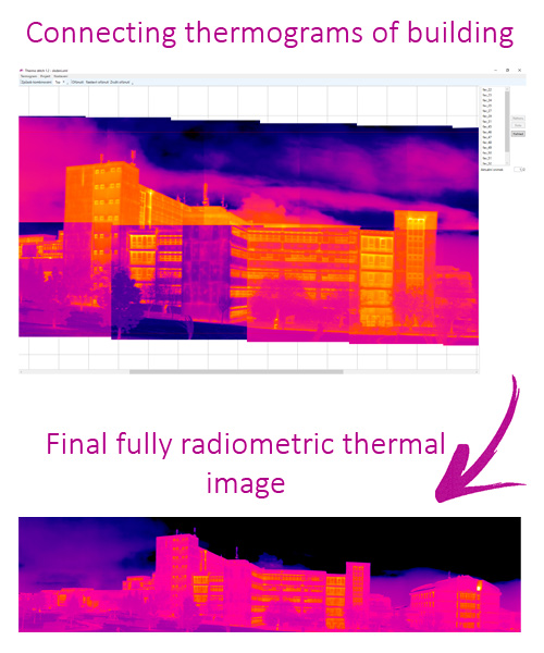 Connecting thermograms of building - LabIR® ThermoStitch